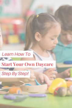So, you've thought about opening your own daycare? I have been a director for 20 years and know first hand how rewarding but challenging it can be. My advice would be to do thorough research first to make sure you are up for the challenge before you dive in. Once you know that the daycare world is for you, jump in with both feet! If you're new and just getting started, download my daily schedules for infants, toddlers, and preschoolers for free! Starting A Daycare, Daily Schedules, Up For The Challenge, Step By Step Instructions, Infants, Childcare, 20 Years, Get Started, Knowing You