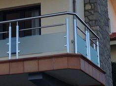 New steel stairs design decor Ideas Balcony Glass Design, Glass Balcony Railing, Balcony Grill Design, Balcony Railing Design, Window Grill Design, Steel Stairs Design, Home Stairs Design, Balustrade Balcon, Balustrades