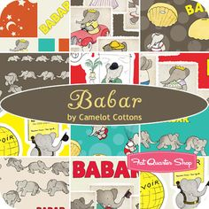 I don't think I can wait until November for this Babar fabric from @fatquartershop