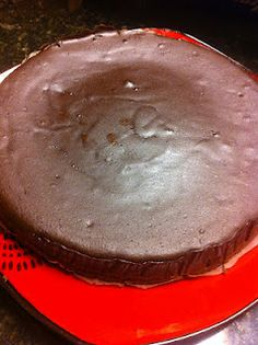 Amazing Flourless Chocolate Cake   Satisfying Eats  (make half this recipe, use semi-sweet chocolate)     16 oz Homemade Chocolate Chunks Recipe (Approximately 4 cups)  10 oz (1 cup and 2 tbsp) plus 1-1/4 cup Unsweetened Canned Coconut Milk  1/2 cup plus 2 tbsp Coconut Oil   5 eggs  2-1/2 tbsp vanilla  Stevia if needed for sweetness
