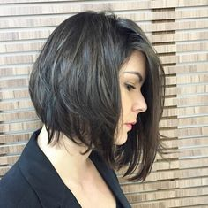 Messy A-line Bob Hair Style - Office Hairstyles Ideas 2016