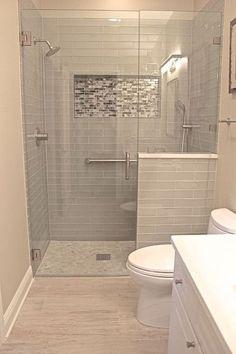 Nice 42 Cool Small Master Bathroom Renovation Ideas. #masterbathroomrenovations