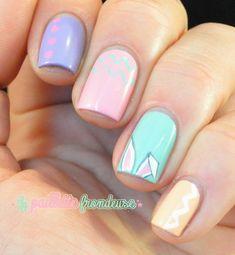 Nailstorming easter - pastel bunny - #nail #nails #nailart - http://lapaillettefrondeuse.blogspot.be/2014/04/nailstorming-53-paques.html