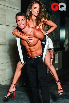We're fanning ourselves over here. Alessandra Ambrosio and Cristiano Ronaldo are officially the hottest people alive. The Brazilian Victoria's Secret Angel and the Portuguese soccer player are the epitome of sexy — and their super toned bodies prove it, which is exactly why the magazine picked them to be the cover stars of its Body Issue, for which they wore jewelry and very little else.