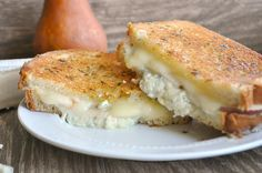Pear, Gorgonzola & Brie Grilled Cheese