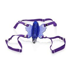 """The Wireless Venus Butterfly is the only personal massager you'll ever need. This soft vibrating full contact butterfly has pinpoint stimulation. Simply strap on and let the purple butterfly wings work their erotic magic. Delicate, but powerful vibrations ensure that you'll get the orgasm you deserve. Fully adjustable and removable waist and thigh straps. It's the ultimate experience for a woman. 3.5""""x 3.5""""/9 cm x 9 cm (butterfly) 2.75""""x .5""""/7 cm x 1 cm (stimulator)"""