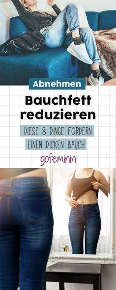 Bauchfett reduzieren: DIESE 8 Dinge fördern einen dicken Bauch #abnehmen #bauchweg #bauchfett #schlanker #schlankertipps