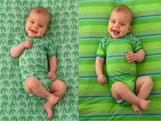 Von ELTERN entworfen: Jersey für Bodys und Decken   Ran an die Nähmaschine - und blitzschnell haben Sie einen süßen Baby-Strampler und eine weiche Baby-Decke fertig. Die tollen Stoffe (mittelschwerer Jersey aus 93 Prozent Viskose und sieben Prozent Elasthan) sind übrigens exklusive Entwürfe aus der ELTERN-Grafik.