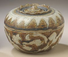 https://flic.kr/p/q3thoC | Covered Box LACMA M.84.213.133a-b |  Wikimedia Commons image page Description  Title Covered Box  Description  : Thailand, Sawankhalok, 16th century : Furnishings; Accessories : Stoneware with brown and white glaze : Gift of Ambassador and Mrs. Edward E. Masters (M.84.213.133a-b) : [http: //www.lacma.org/art/collection/south-and-southeast-asian-art South and Southeast Asian Art]  Accession number M.84.213.133a-b  Date {{other date|century|16}}  Dimensions a) Lid…