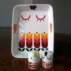 Illustrated tableware by Camila Prada