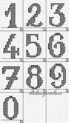 Thrilling Designing Your Own Cross Stitch Embroidery Patterns Ideas. Exhilarating Designing Your Own Cross Stitch Embroidery Patterns Ideas. Cross Stitch Numbers, Cross Stitch Letters, Cross Stitch Charts, Cross Stitch Designs, Cross Stitch Font, Beading Patterns, Embroidery Patterns, Stitch Patterns, Crochet Patterns