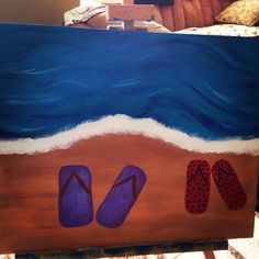 Sandals in the sand Paintings, Rugs, Sandals, Simple, Home Decor, Art, Farmhouse Rugs, Slide Sandals, Homemade Home Decor