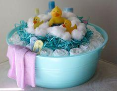 bathtub diaper cakes | Baby Bath Time Diaper Cake | eBay