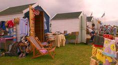 Vintage beach huts at the seaside Beach Hut Interior, British Beaches, Beach Furniture, Seaside Beach, Market Stalls, Beach Shack, Deck Chairs, Beach Cottages, Beautiful Beaches