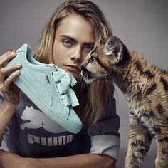 New Puma Suede Heart Reset @caradelevingne www.kaotikobcn.com #kaotiko #shoes #sneakers #suede #puma #blue #girl #caradelevingne