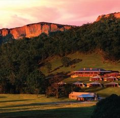 Wolgan Valley Resort and Spa nestled into the surrounding hills #hoorootopromanticstays