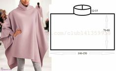 Amazing Sewing Patterns Clone Your Clothes Ideas. Enchanting Sewing Patterns Clone Your Clothes Ideas. Dress Sewing Patterns, Clothing Patterns, Knitting Patterns, Poncho Pattern Sewing, Skirt Sewing, Sewing Hacks, Sewing Tutorials, Sewing Projects, Sewing Ideas