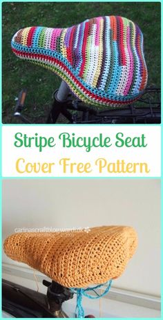 Crochet Stripe Bicycle Seat Cover Free Patterns - Crochet Bicycle Fashion Patterns