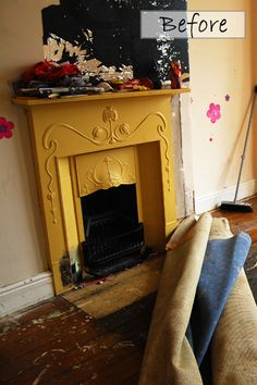 stripping paint from cast iron fireplace Fireplace Garden, Paint Fireplace, Cast Iron Fireplace, Old Fireplace, Victorian Fireplace, Fireplace Remodel, Fireplace Surrounds, Fireplaces, Furniture Fix
