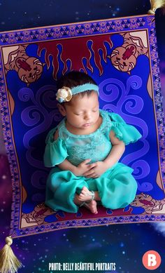 Photographer Transforms Newborns Into Disney Princesses—And The Photos Are Pure Magic - Camila's Newborn Photoshoot - Baby Girl Halloween Costumes, Baby Costumes, Newborn Pictures, Baby Pictures, Disney Princess Babies, Disney Babies, Book Bebe, Disney Maternity, Monthly Baby Photos