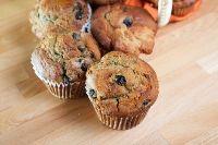 Sourdough Blueberry Spelt Muffins: 12 hour ferment, blueberries equal flour, very low sugar, uses kefir or buttermilk