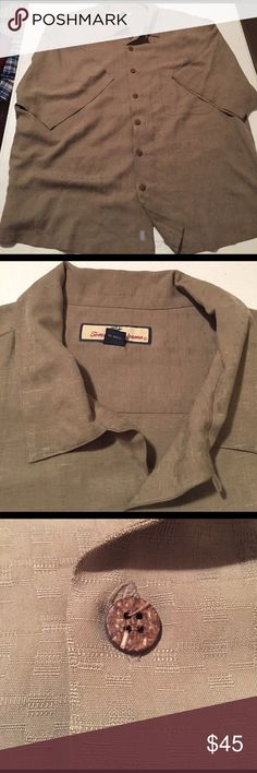 Mens Tommy Bahama Silk Short Sleeve Button Up XXL XXL Silk, wood buttons. Sail fast love slow, the back is the best part so be sure to check out all pics. Tommy Bahama Shirts Casual Button Down Shirts