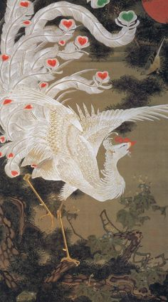 Itō Jakuchū [伊藤 若冲] - White Phoenix and Pine