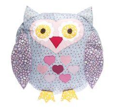 Little Owl Cushion - Children's Bedroom & Nursery Interiors | Little Blue Owl