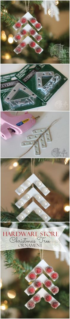 Hardware Store Christmas Tree Ornament   diyfunidea.com