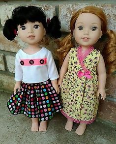 """Lot of 14-15"""" Doll Clothes -Fun Styles -Fits American Girl Wellie Wishers"""