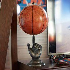 Hand Spinning Basketball Globe #pbteen