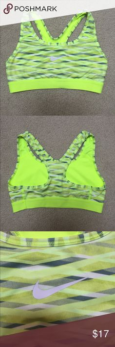 Women's Nike Pro Sports Bra This item is gently used but is in great condition! It's vibrant color will defiantly make you stand out from the crowd wherever you go! Nike Other
