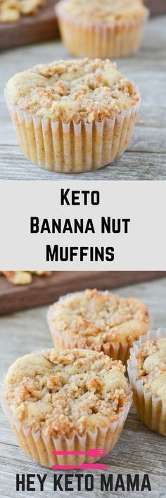 Tired of eggs for keto breakfast? These Keto Banana Nut Muffins are so simple an. - Tired of eggs for keto breakfast? These Keto Banana Nut Muffins are so simple and delicious, your k - Low Carb Bread, Keto Bread, Low Carb Keto, Low Carb Recipes, Keto Carbs, Keto Banana Bread, Keto Fat, Muffin Recipes, Peanut Butter