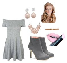 """Pink and gray"" by lily-wildersmith on Polyvore featuring Topshop, M&Co and Fiebiger"