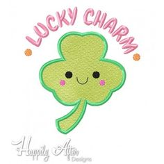 Lucky Charm Applique Embroidery Design