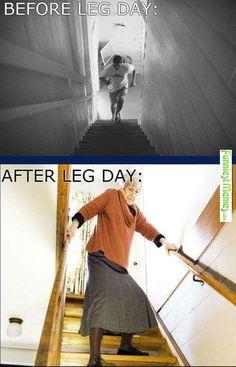 FunniestMemes.com - Funny Memes - [Leg day struggles]