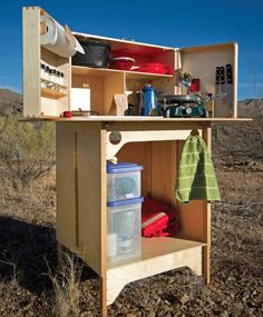 AWESOME CHUCK BOX GALLERY!! Check out the various innovative designs and configurations! Fantastic solution for far more than just camping kitchens! Great idea for bug out boxes, 72 hour kits, gear storage and work surfaces, communication stations, firearms work benches and more!!!