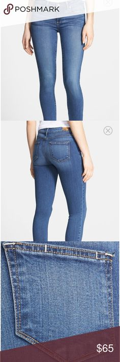 Paige Verdugo Tristan Skinny Ankle Jeans Size 30 Bold whiskering and fading style these versatile skinny jeans cut from body-contouring stretch denim in an ankle-grazing silhouette.  Jeans are NWOT size 30, Paige Jeans Jeans Ankle & Cropped