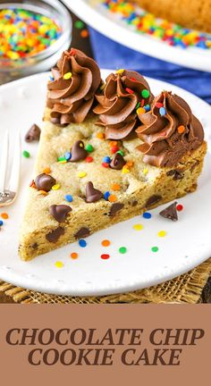 This Chocolate Chip Cookie Cake is moist, chewy and super easy to make! You can decorate and customize this cookie cake for a birthday or other special occasion! Chocolate Desert Recipes, Chocolate Desserts, Chocolate Lovers, Chocolate Chocolate, Chocolate Frosting, Baking Recipes, Cake Recipes, Dessert Recipes, Summer Cookies