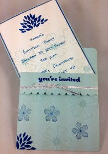 Invitation in a sleeve