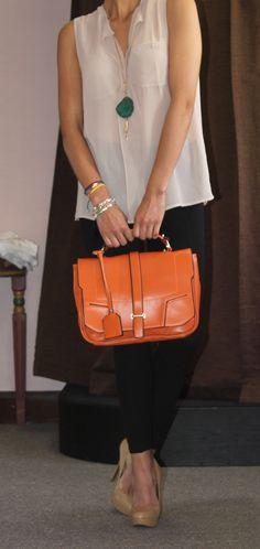 67 Best Orange Bag Styling images  2d285abd956
