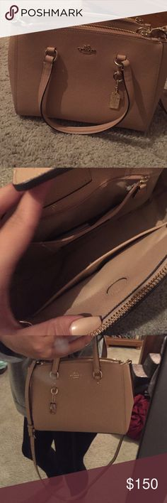 Stanton coach bag Brand new Coach bag in a light tan color in perfect condition has the smaller straps to wear on arm and a longer strap to wear as a cross body it is made of crossgrain leather  ill take the best offer Coach Bags Crossbody Bags