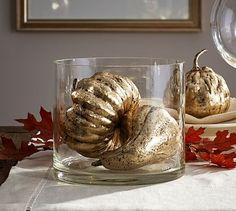 Gold Pumpkins & Gourds Vase Filler #potterybarn