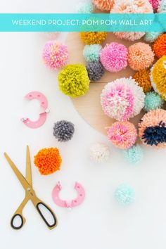 Weekend Project: The Coolest DIY Pom Pom Wall Art