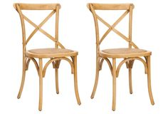 One Kings Lane - The Power of Pairs - Natural Bonnie Chair, Pair
