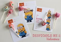 Despicable Me 2 Free Valentine Printable // Make and Takes
