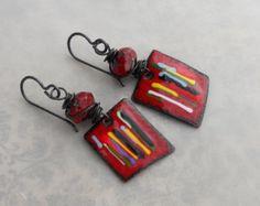 Aurora Glow//Artisan Earrings//Fire on the by ContentsJewelry