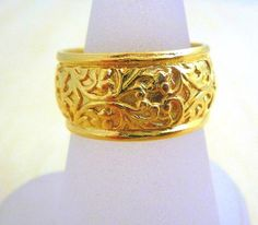 Gold Fill Bridal Filigree Carved Gold 14K by myartisanstore, $35.60