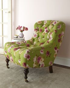 """""""Tia"""" tufted chair. She's just plain pretty."""