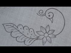 Diy Embroidery Patterns, Basic Embroidery Stitches, Hand Embroidery Videos, Embroidery Applique, Machine Embroidery Designs, Small Henna Designs, Crochet Shrugs, Ganesh Images, Simple Blouse Designs